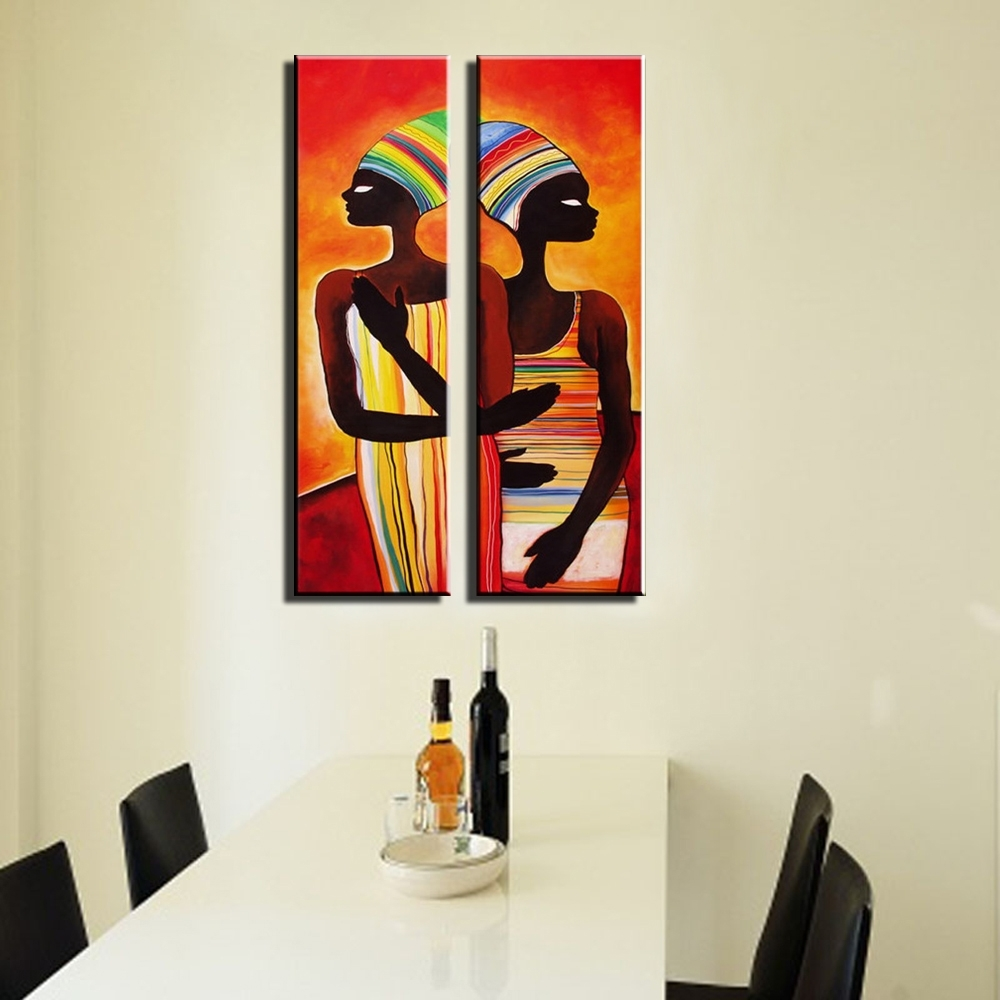 Abstract Modern Vertical Canvas Wall Art Large Wall Sexy Naked In Most Popular Abstract African Wall Art (View 5 of 20)