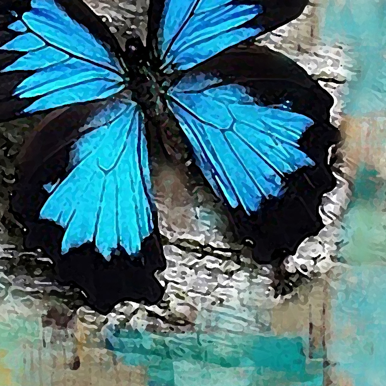 Abstract Oil Painting, Hand Painted Oil Painting, Wall Art – Iarts For 2018 Abstract Butterfly Wall Art (View 7 of 20)