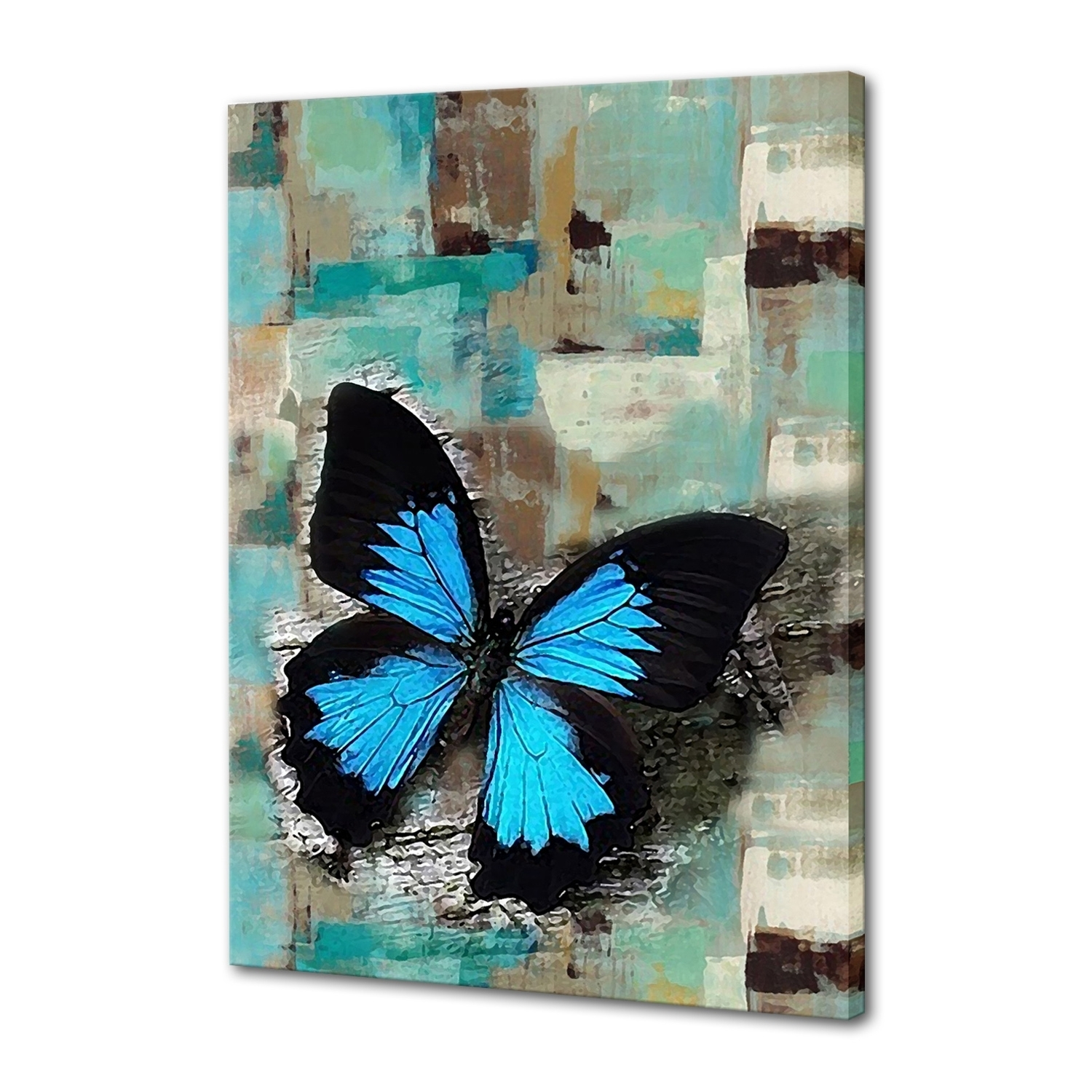 Abstract Oil Painting, Hand Painted Oil Painting, Wall Art – Iarts Inside Most Recent Abstract Butterfly Wall Art (View 8 of 20)