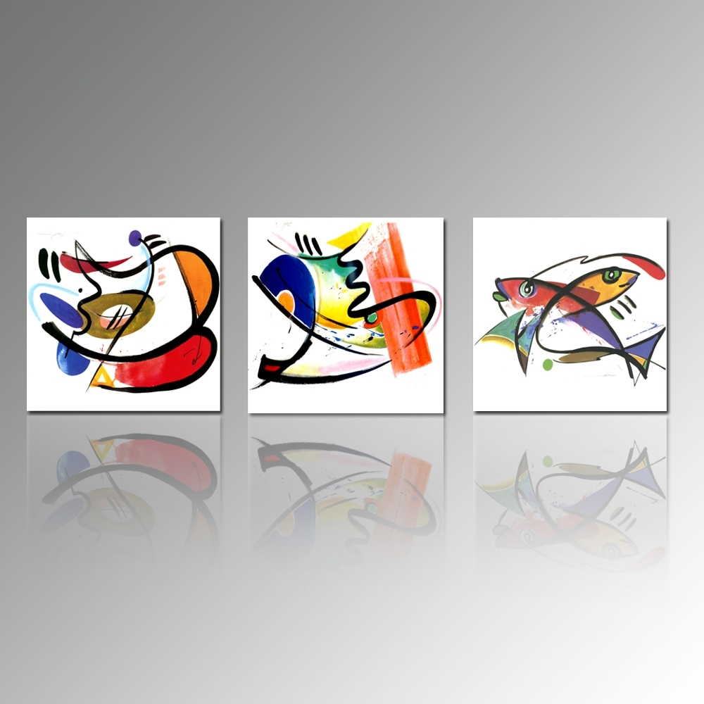 Abstract Painting Print On Canvas Fish Picture Printing Kitchen Intended For Most Current Abstract Fish Wall Art (View 3 of 20)