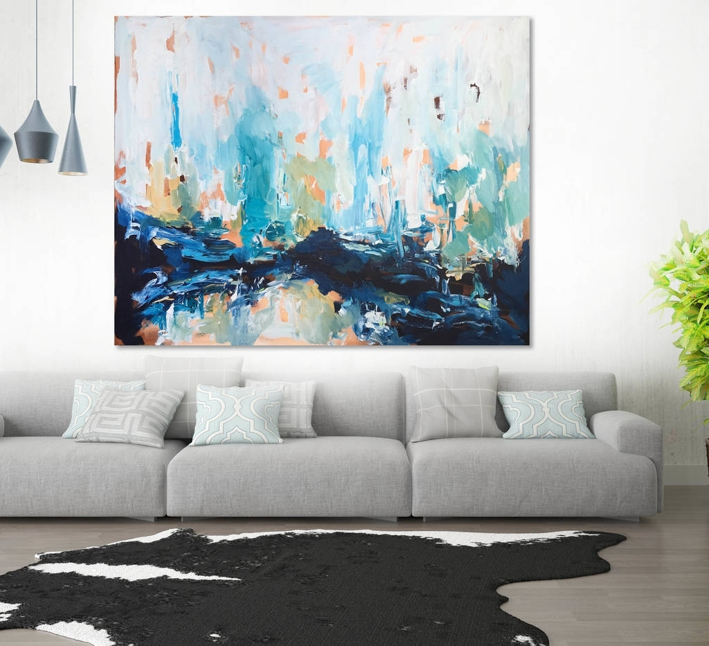 Abstract Paintings For Living Room Abstract Metal Art Sculptures Pertaining To Most Up To Date Abstract Wall Art For Living Room (View 6 of 20)