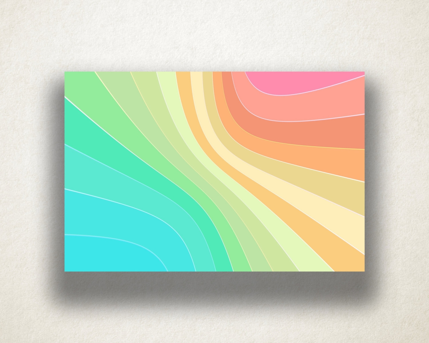 Abstract Rainbow Design Canvas Art Print, Gradient Pastel Wall Art Within Recent Pastel Abstract Wall Art (View 5 of 20)