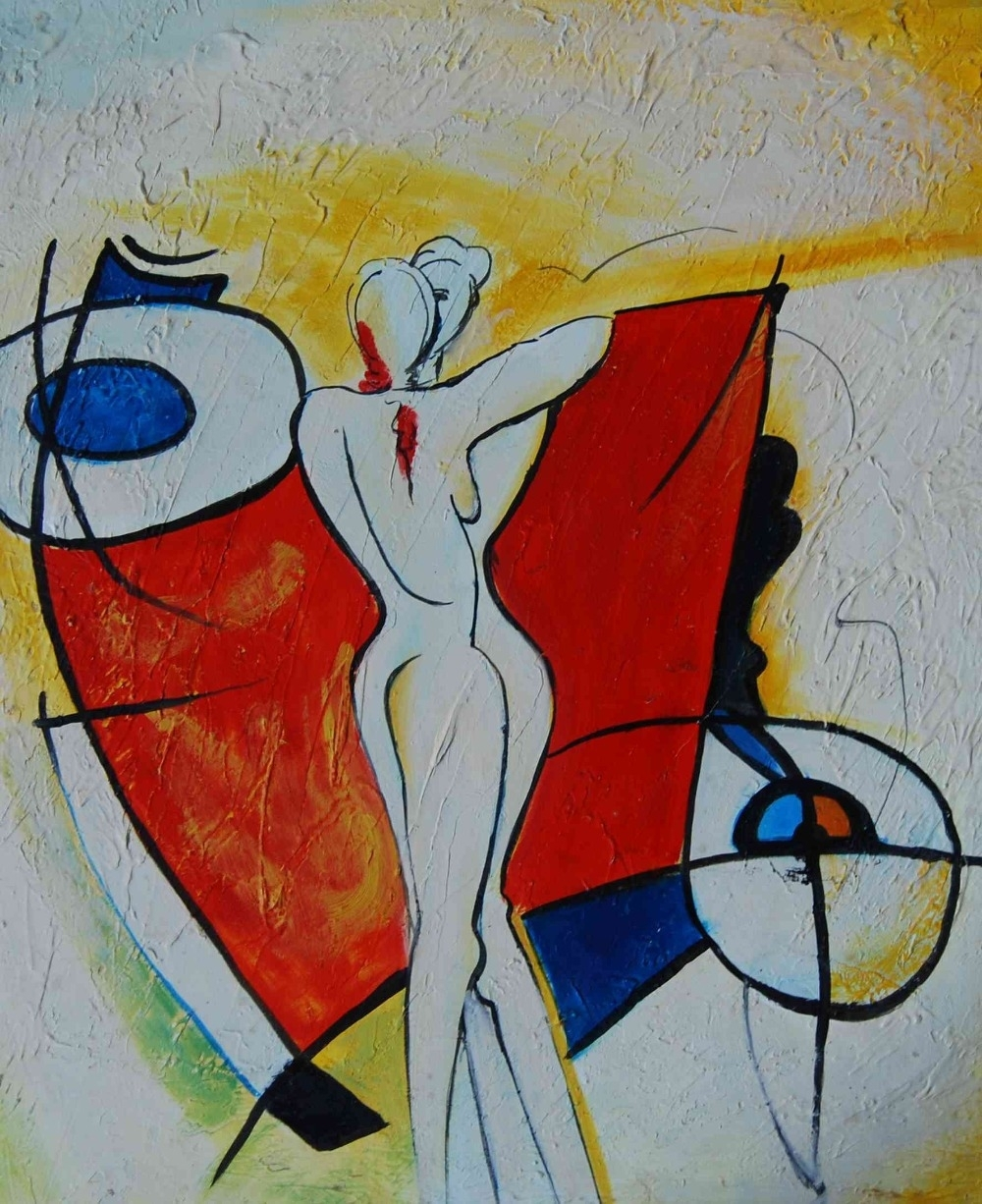 Abstract Two Girls Body Painting Print On Canvas Bedroom Throughout 2018 Abstract Body Wall Art (Gallery 4 of 20)