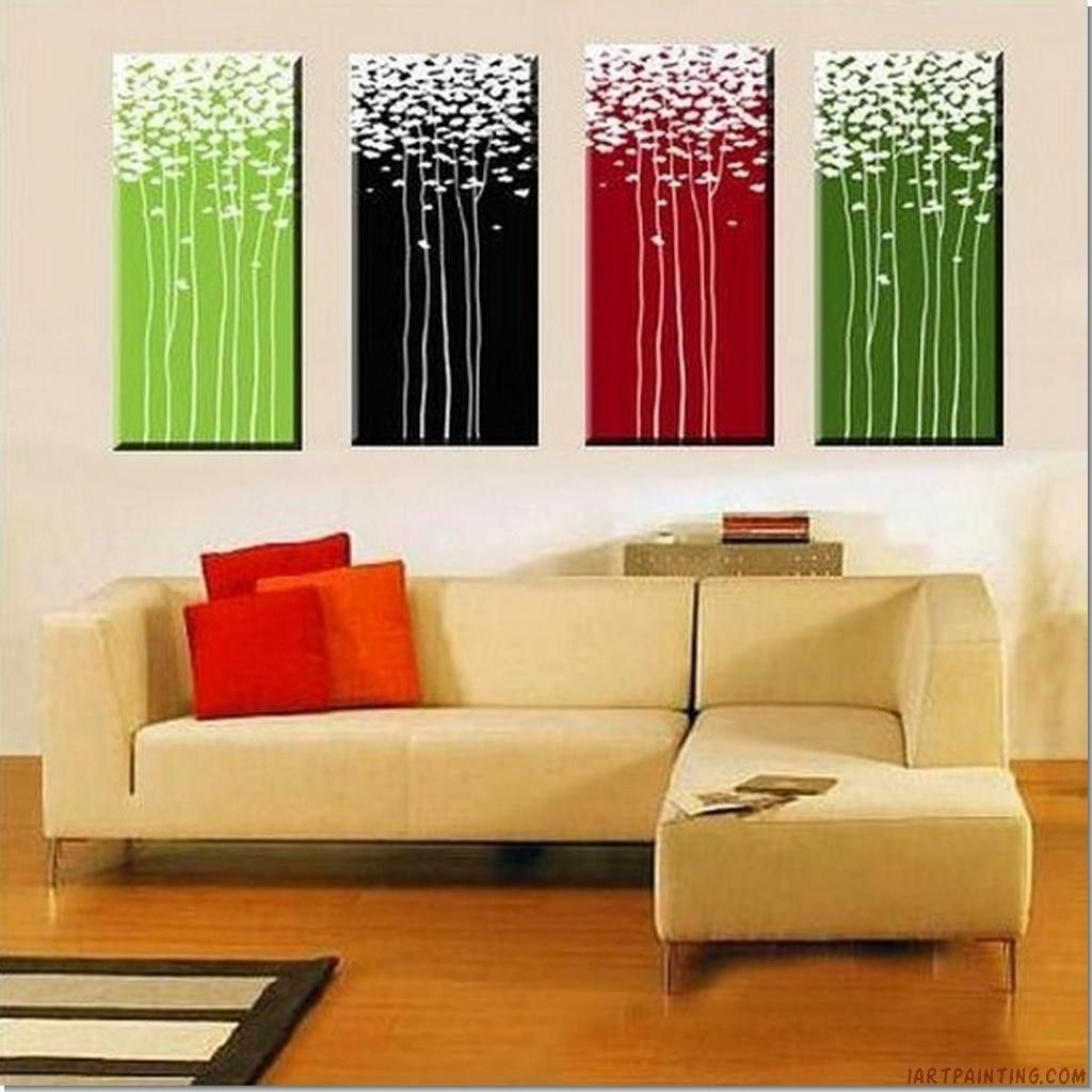 Abstract Wall Art | 100% Handmade Abstract Painting Acrylic Wall With Regard To Newest Diy Abstract Canvas Wall Art (View 19 of 20)