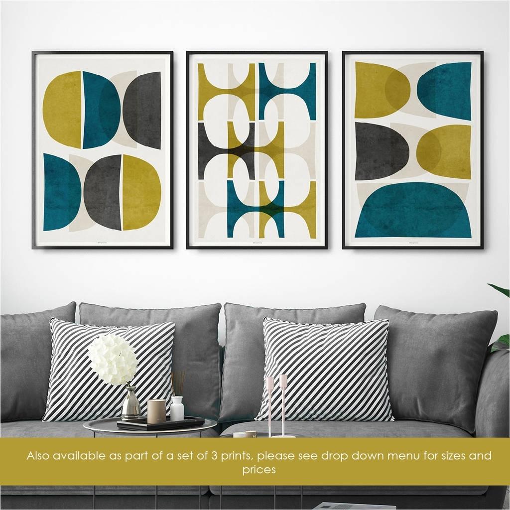 Abstract Wall Art Print Teal Wall Artbronagh Kennedy – Art For Latest Abstract Wall Art Prints (View 4 of 21)
