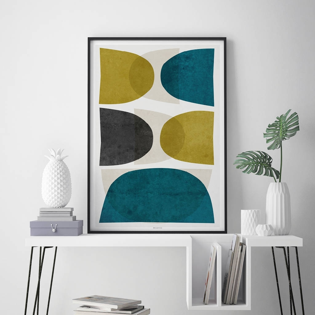 Abstract Wall Art Print Teal Wall Artbronagh Kennedy – Art Intended For Newest Abstract Wall Art Prints (View 18 of 21)