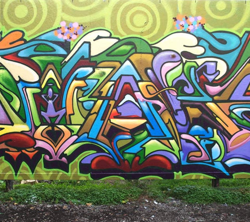 Abstract,graffiti,doodle,wall,painting,drawing,colorful,green Regarding Most Current Abstract Graffiti Wall Art (View 7 of 20)