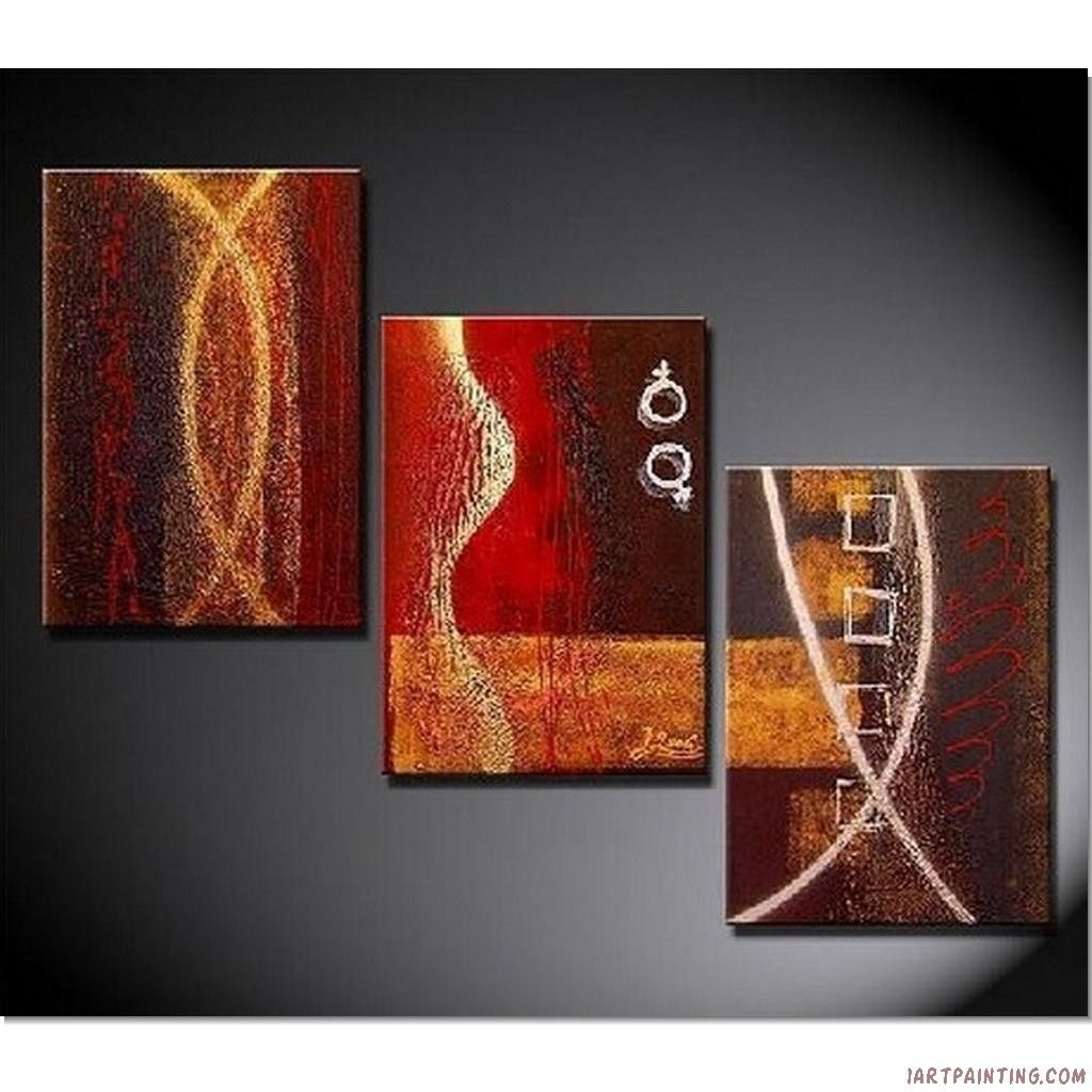 Acrylic+Painting+Ideas | Abstract Paintings 3Pcs Canvas Set Modern For Most Current Abstract Canvas Wall Art Iii (View 8 of 20)