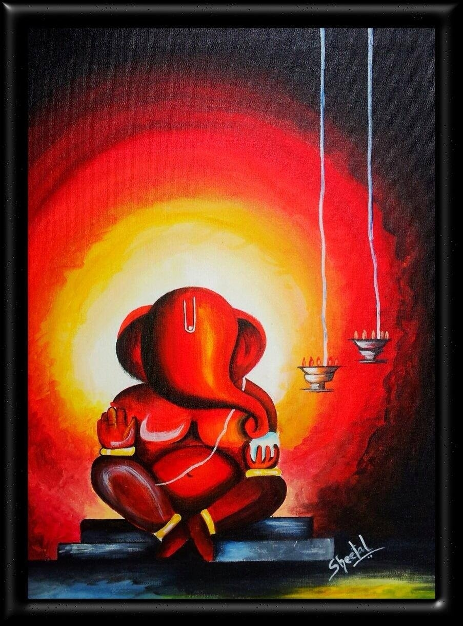 Alfa Img – Showing > Ganpati Abstract Paintings | Ganesha For Recent Abstract Ganesha Wall Art (View 6 of 20)