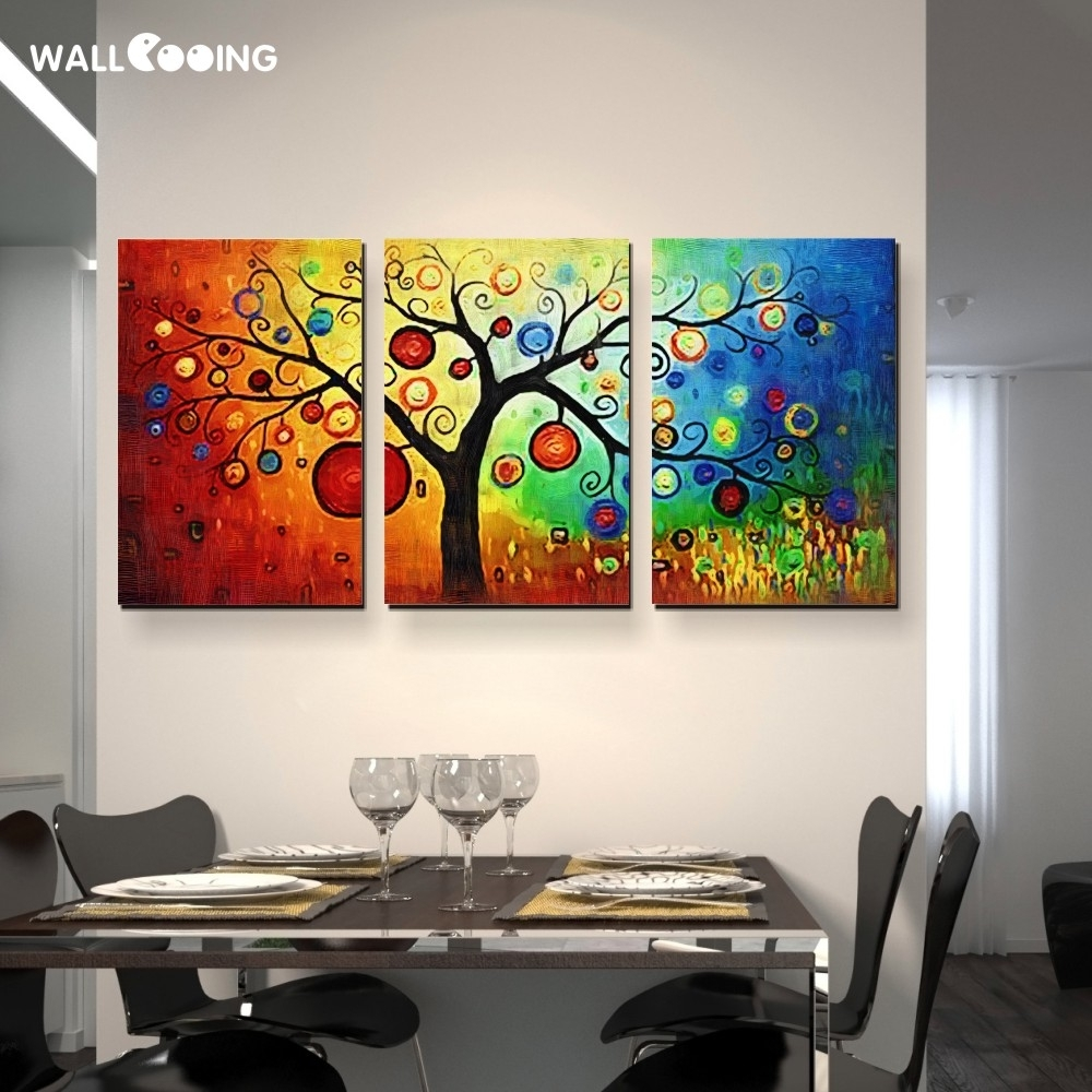 Aliexpress : Buy Hand Painted Modern Abstract Money Tree Pertaining To Best And Newest Modern Abstract Huge Wall Art (View 2 of 20)