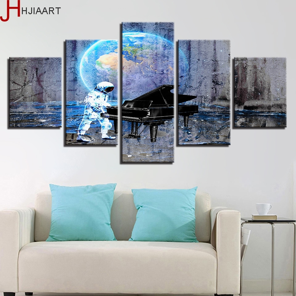 Aliexpress : Buy Hjiaart Canvas Hd Prints Poster Wall Art In Most Recently Released Abstract Piano Wall Art (View 7 of 20)