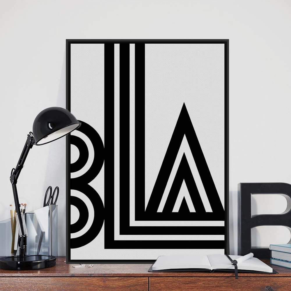 Aliexpress : Buy Modern Minimalist Black White Typography Throughout 2018 Abstract Wall Art Posters (View 6 of 20)