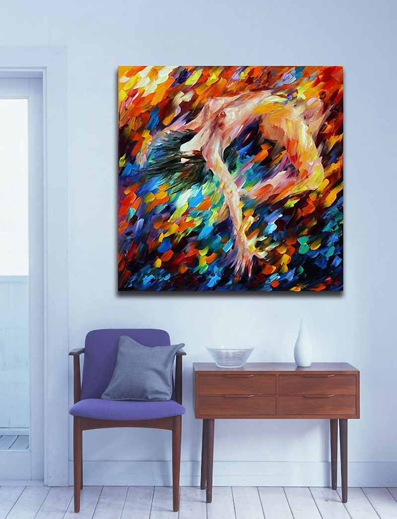 Aliexpress : Buy Modern Palette Knife Oil Painting 100 With Regard To Latest Abstract Body Wall Art (Gallery 2 of 20)