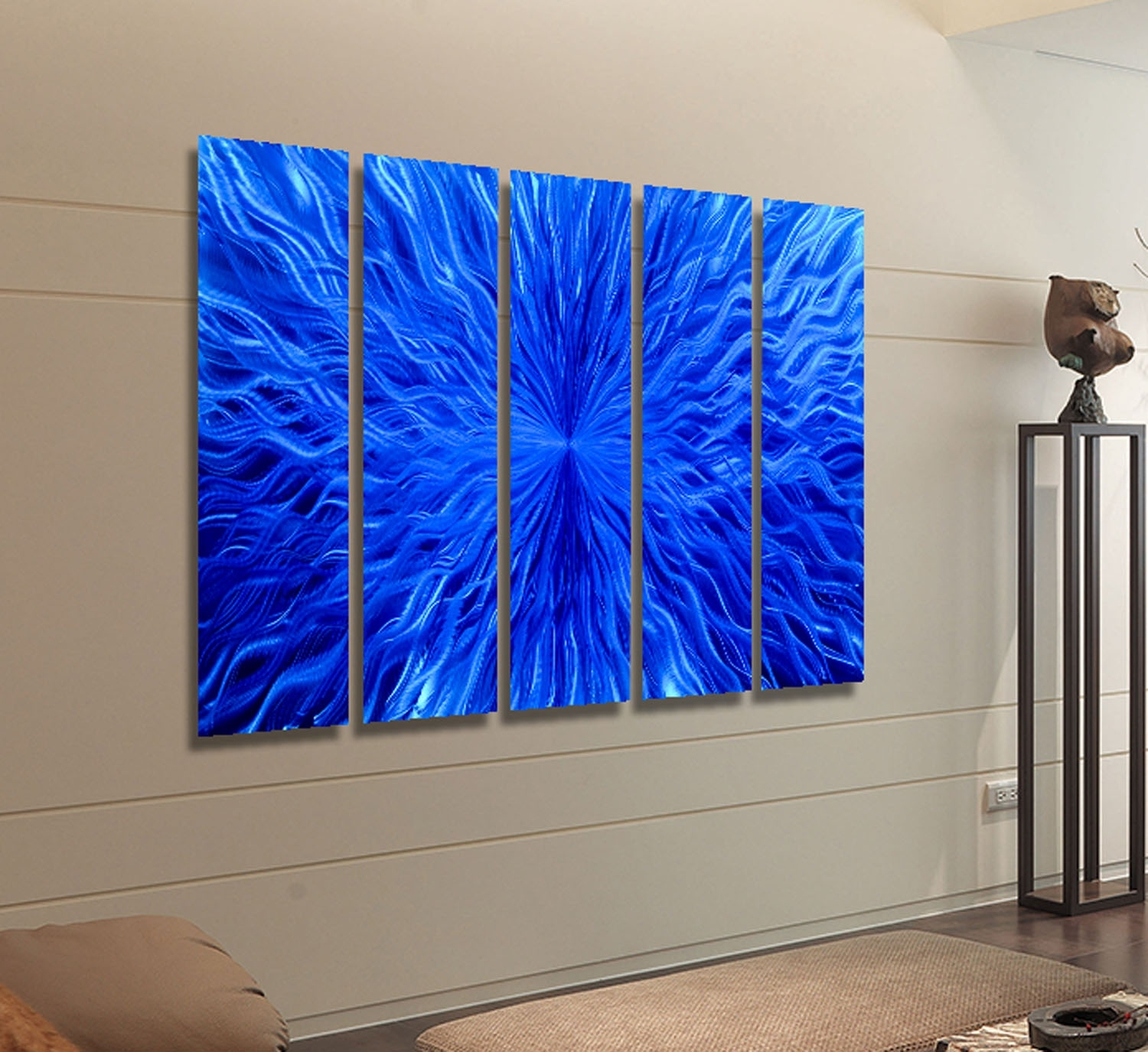 Allegiant Extra Large Abstract Red, Blue & Black Modern Metal Inside Latest Extra Large Abstract Wall Art (View 9 of 20)