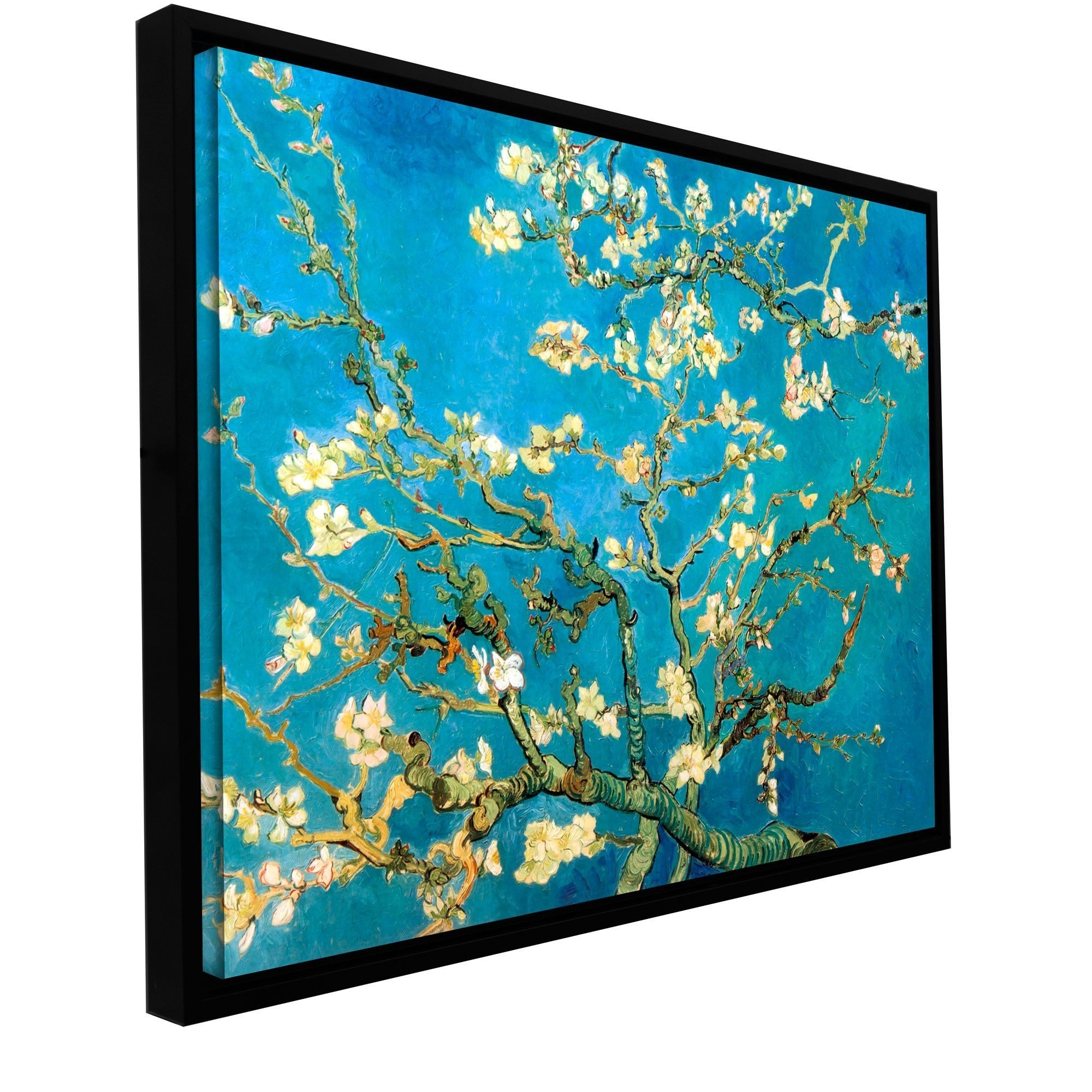 Almond Blossom'vincent Van Gogh Framed Painting Print On Pertaining To Most Up To Date Almond Blossoms Vincent Van Gogh Wall Art (View 12 of 20)
