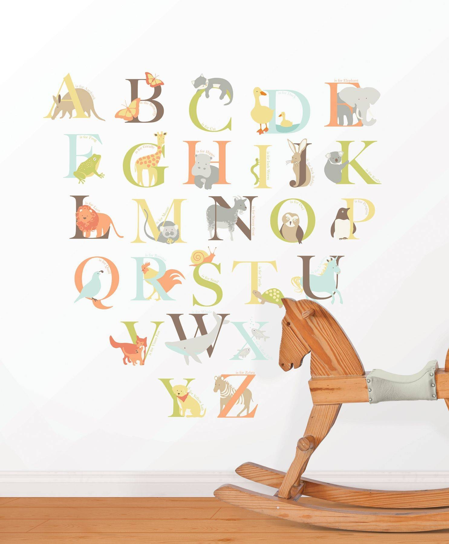 Alphabet Zoo Wall Art Sticker Kit With Regard To Most Recent Animal Wall ArtStickers (View 4 of 20)
