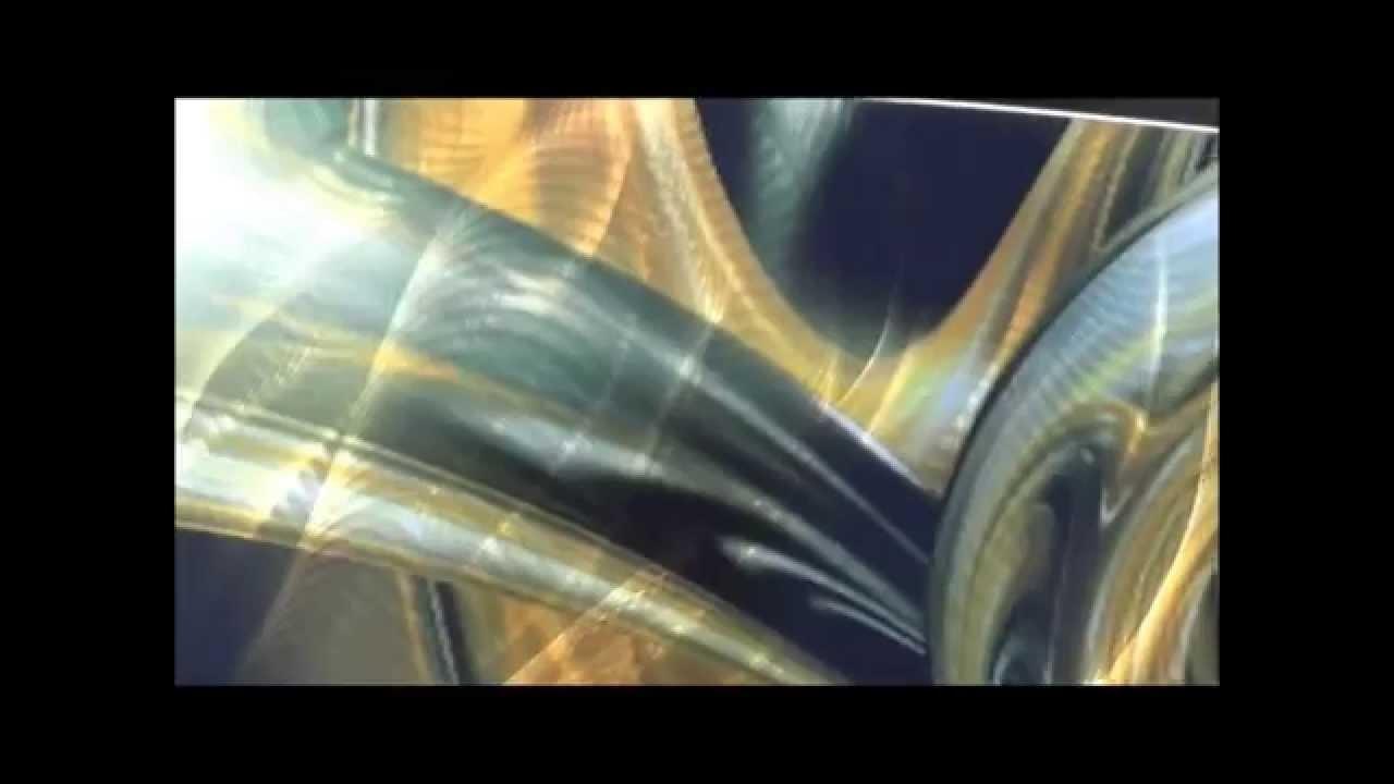 Aluminum Wall Art – Aluminum Large Wall Art Panels – Youtube Inside Newest Abstract Aluminium Wall Art (View 13 of 20)
