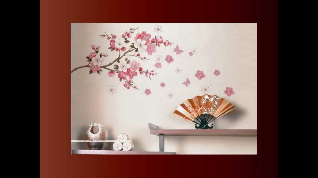 Amazoncom Black White Red Modern Abstract Cherry Blossom Wall In Current Abstract Cherry Blossom Wall Art (Gallery 20 of 20)
