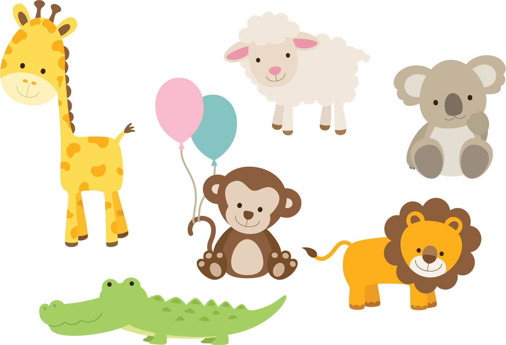 Animal Decals For Nursery | Baby Animal Wall Stickers In 2017 Nursery Animal Wall Art (View 2 of 20)