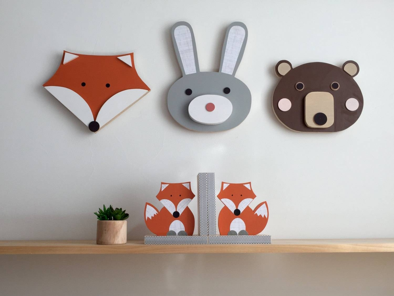 Animal Wall Art, Wood Wall Art, Wooden Animal (View 1 of 20)