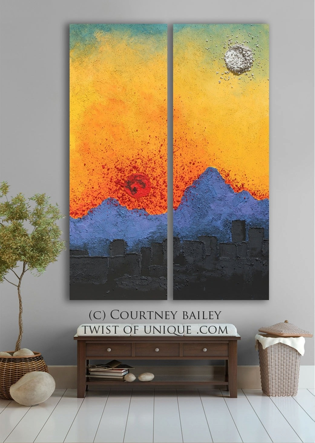Arizona Sunset Abstract Artwork, Large Original Abstract Painting With Regard To Newest Original Abstract Wall Art (View 5 of 20)