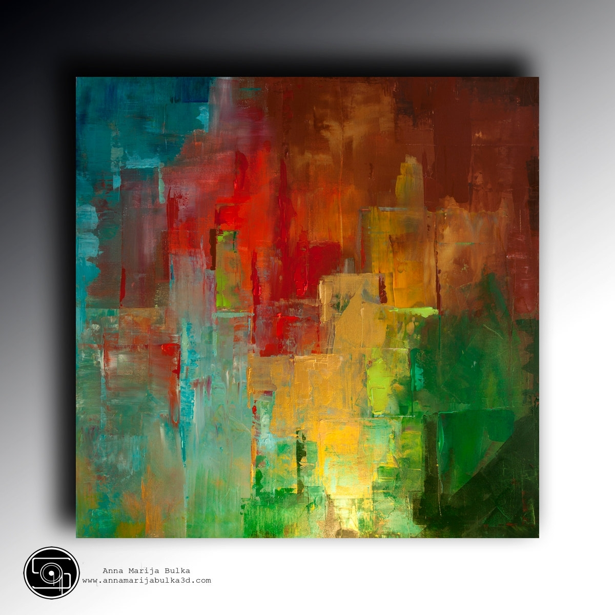 Art Acrylic Painting Uv Glow In The Dark Modern Contemporary Wall Throughout Most Current Bright Abstract Wall Art (View 14 of 20)