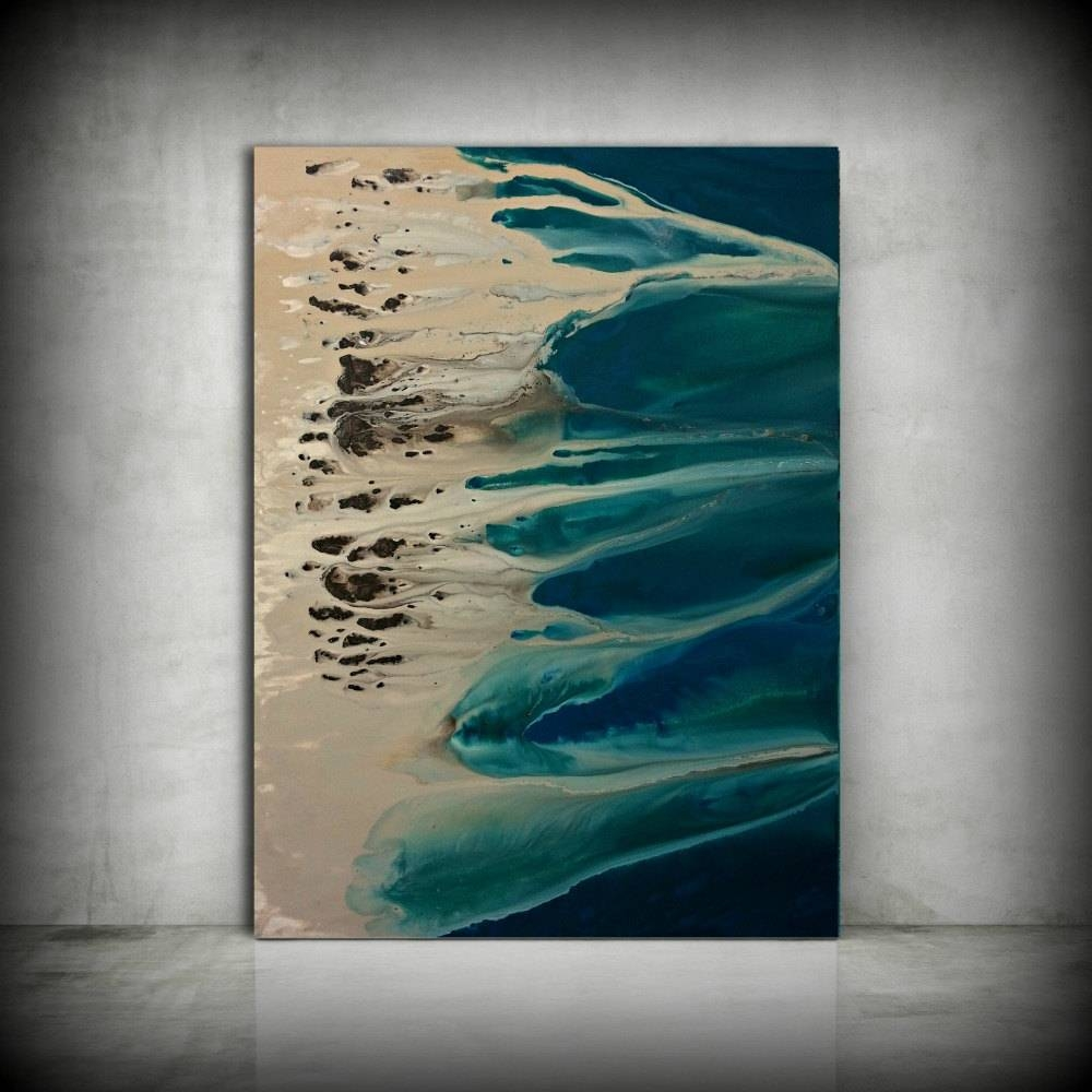 Art Painting Original Painting Acrylic Painting Abstract Pertaining To Newest Large Coastal Wall Art (View 6 of 20)