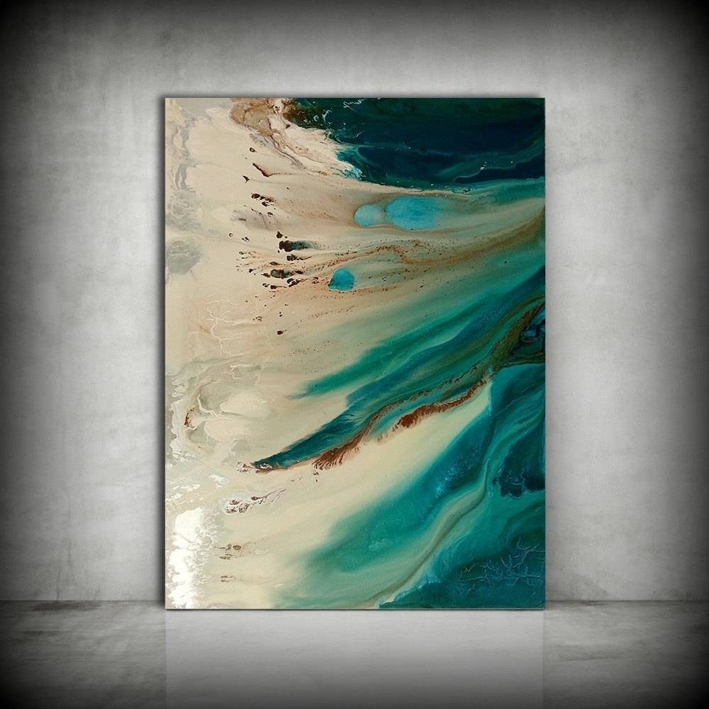 Art Painting Original Painting Acrylic Painting Abstract With Most Up To Date Large Coastal Wall Art (View 7 of 20)