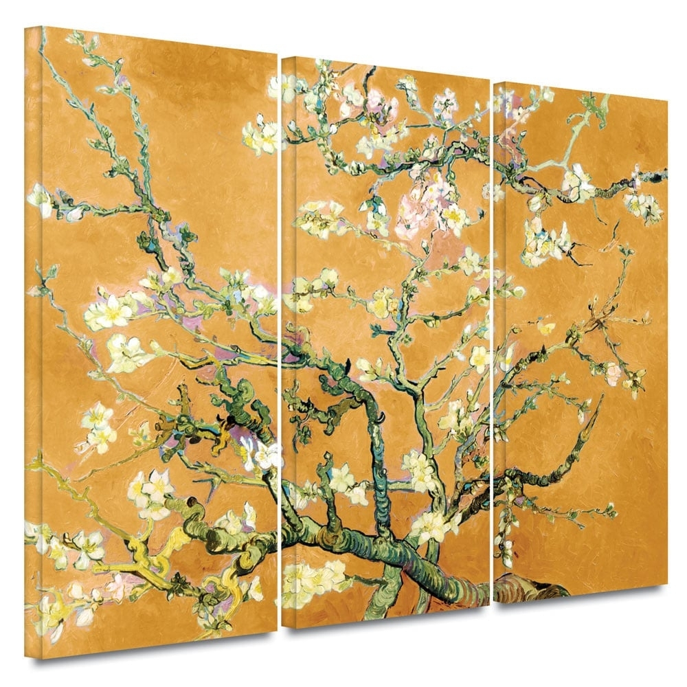 Art Wall Vincent Van Gogh '3 Piece Almond Blossom Interpretation Within Newest Vincent Van Gogh Multi Piece Wall Art (View 13 of 20)