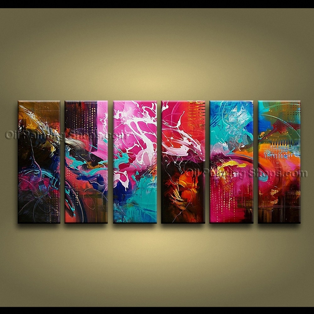 Artcrafts Huge Modern Abstract Painting Wall Art Oil On Canvas In Most Current Huge Abstract Wall Art (View 17 of 20)