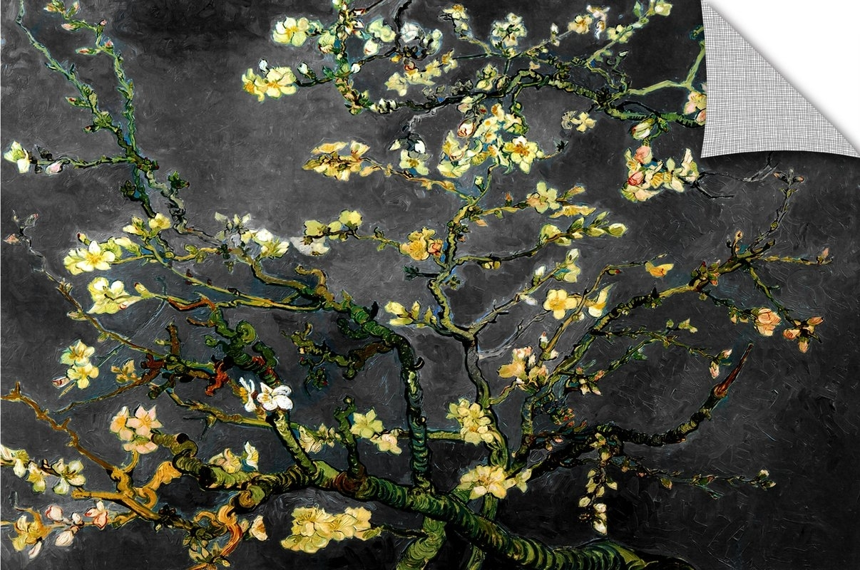 Artwall Almond Blossom Interpretation In Dahilia Blackvincent With Regard To Best And Newest Vincent Van Gogh Wall Art (View 1 of 20)