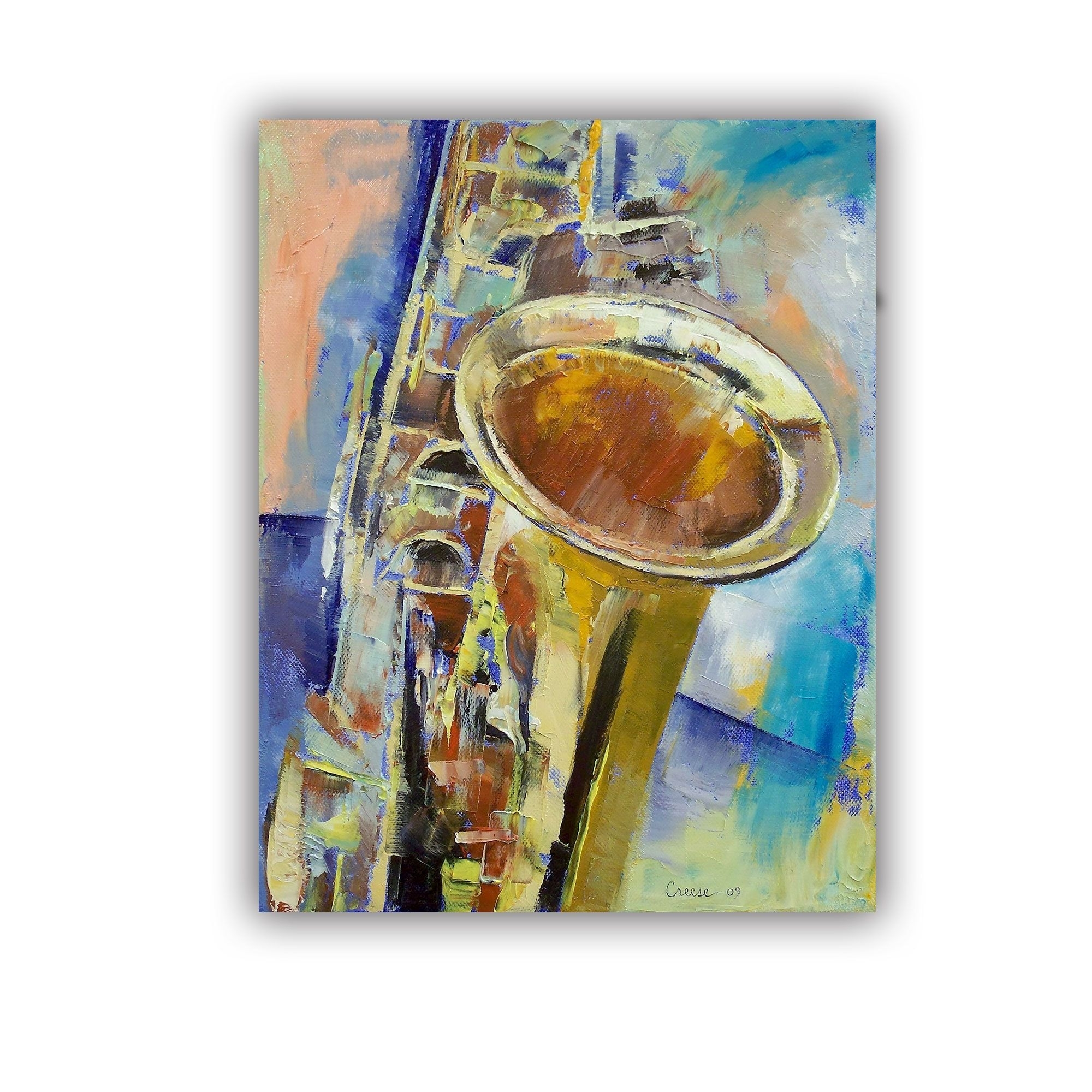Artwall Michael Creese ' Saxaphone ' Art Appeals Removable Wall Within Most Up To Date Abstract Jazz Band Wall Art (View 10 of 20)