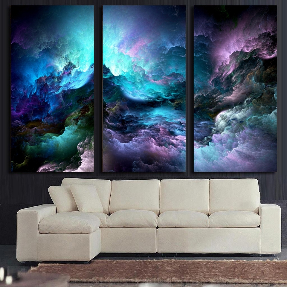Atfipan Wall Art Canvas Painting 3P Abstract Graphics Psychedelic Intended For Most Recently Released Abstract Graphic Wall Art (View 7 of 20)