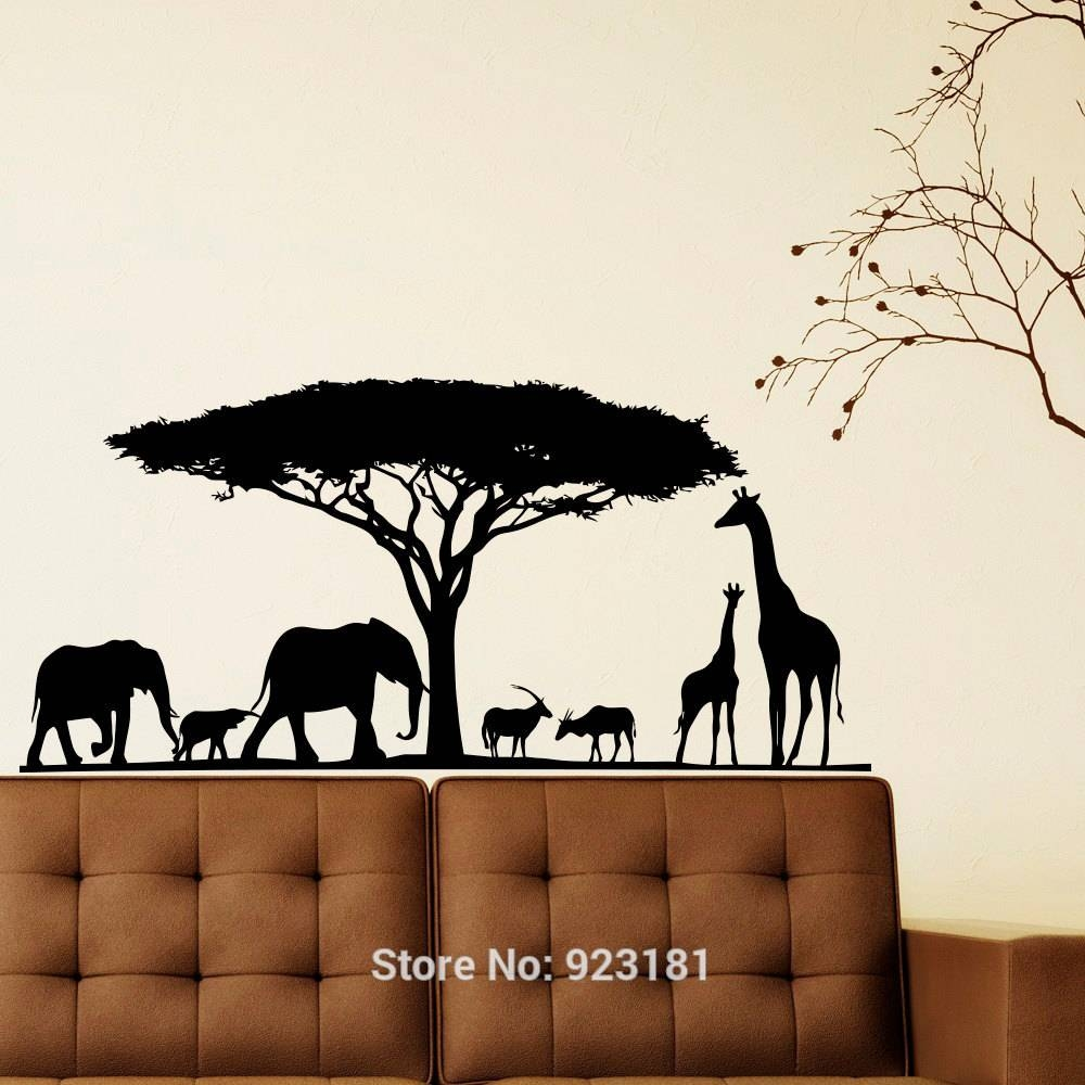 Awesome 30+ Safari Wall Art Decorating Inspiration Of African Within Most Up To Date Safari Animal Wall Art (View 3 of 20)