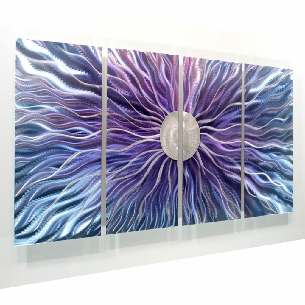 Awesome To Do Purple Metal Wall Art Also Amazon Com Large Blue And With Most Recently Released Dark Purple Abstract Wall Art (View 3 of 20)