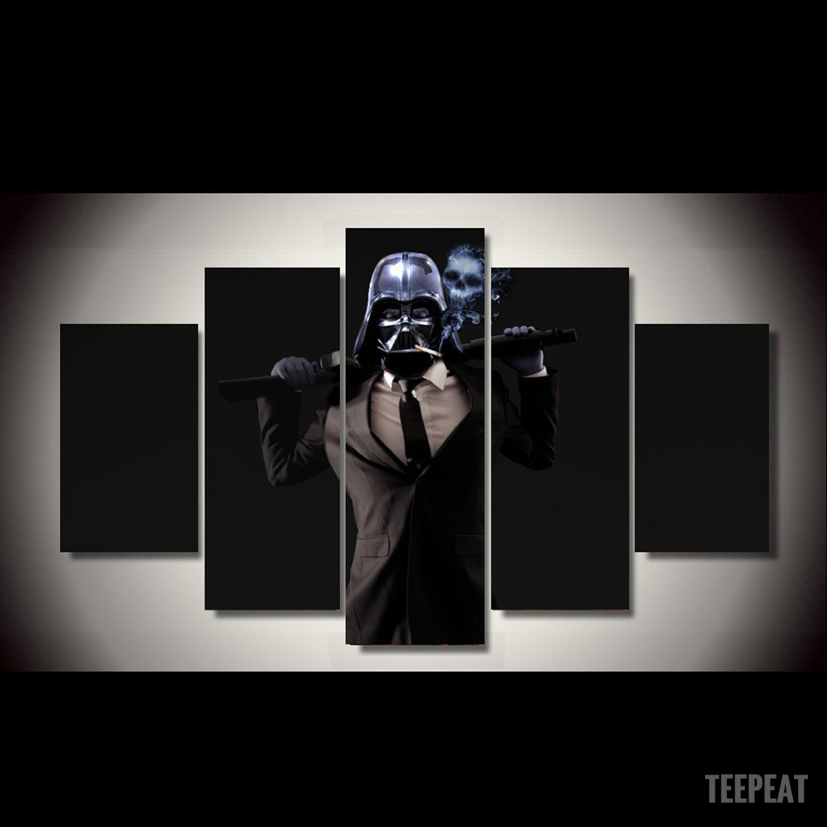 Badass Vader Painting – 5 Piece Canvas Limited Edition | Badass Throughout Recent Limited Edition Canvas Wall Art (View 10 of 20)