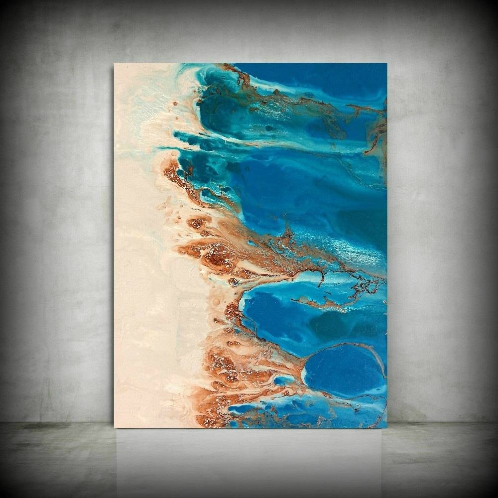 Beach Painting 30 X 40 Abstract Painting Acrylic Painting Abstract Throughout Newest Large Coastal Wall Art (View 9 of 20)