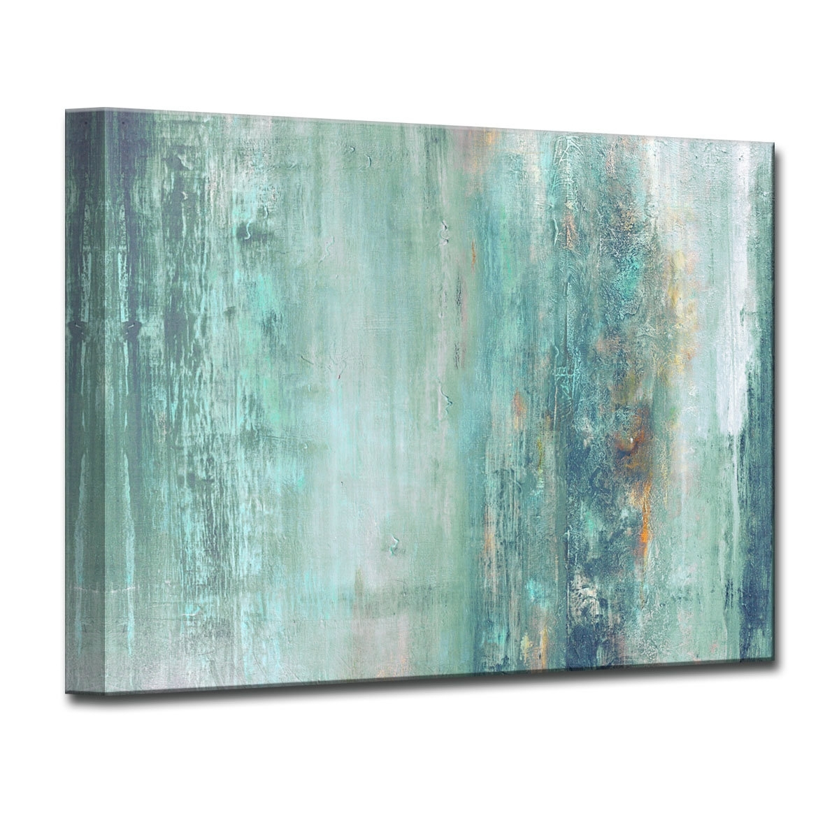 Beachcrest Home 'abstract Spa' Framed Graphic Art Print On Canvas Regarding Most Recent Blue And Brown Abstract Wall Art (View 3 of 20)