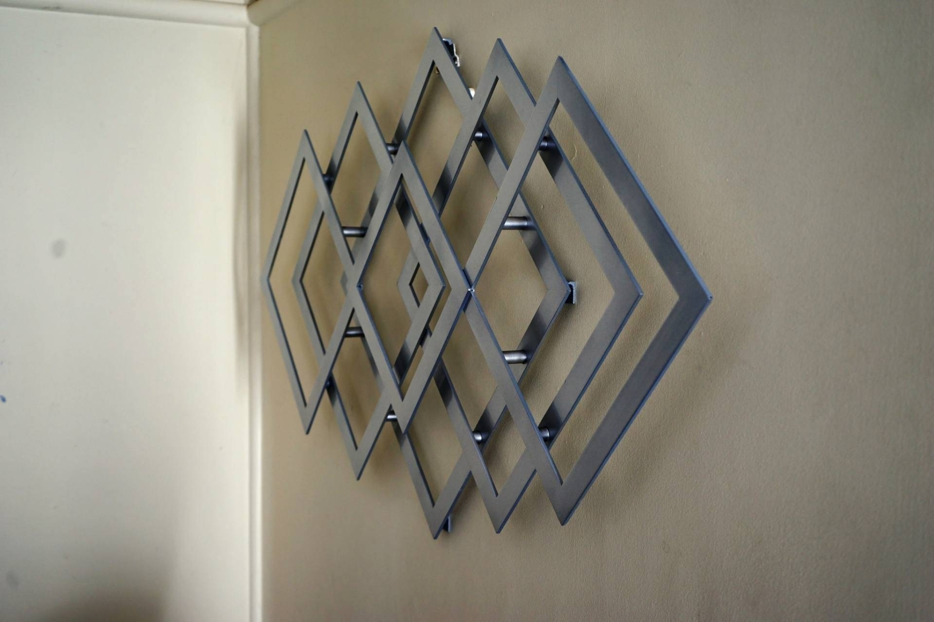 Best 20+ Of Geometric Metal Wall Art For Most Recent Abstract Geometric Metal Wall Art (View 2 of 20)