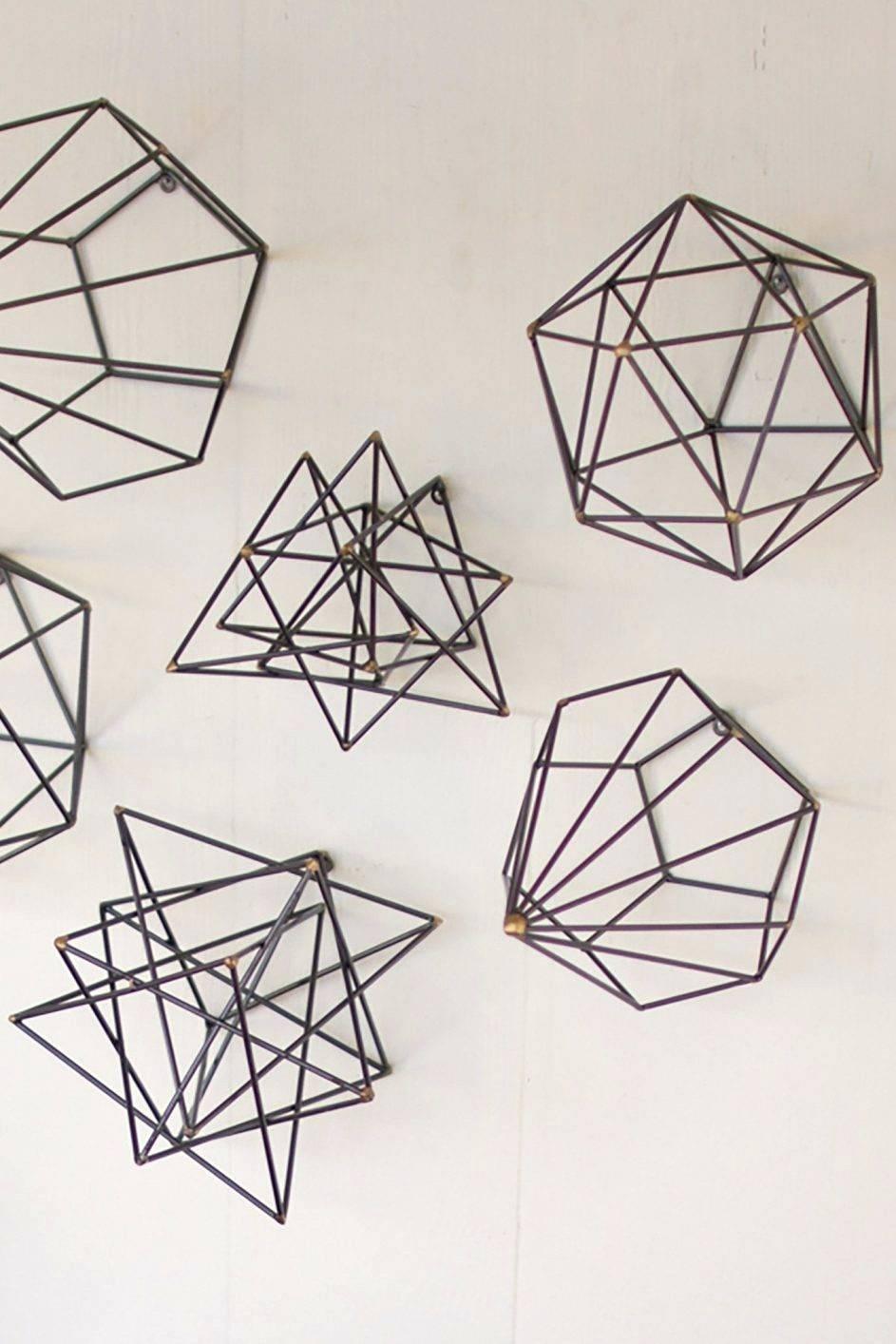 Best 20+ Of Geometric Metal Wall Art Pertaining To Latest Abstract Geometric Metal Wall Art (View 3 of 20)