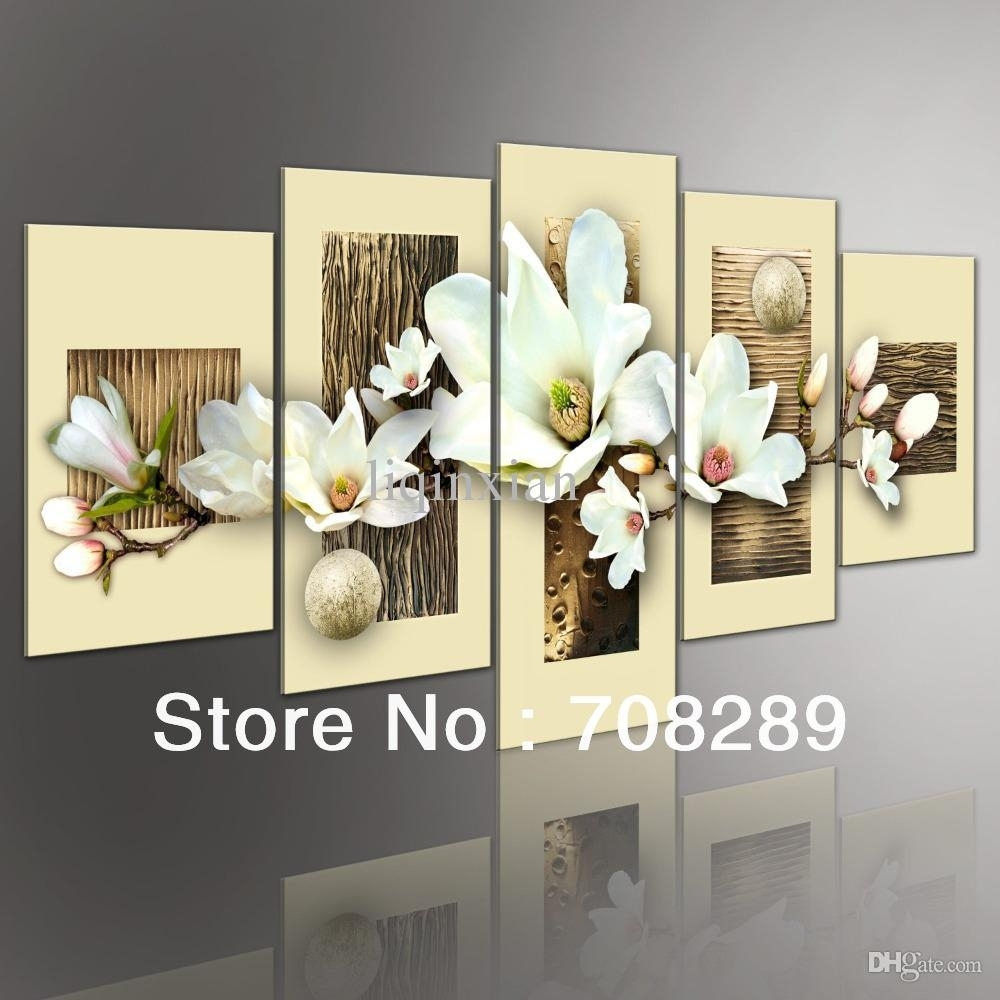 Best Thick Texture Magnolia Modern Abstract Oil Paintings Intended For Most Recent Modern Abstract Oil Painting Wall Art (View 11 of 20)