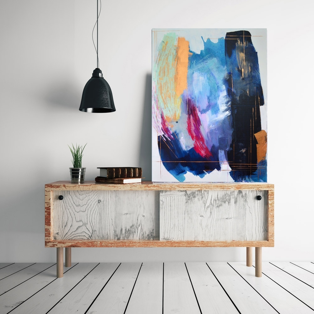 Big Abstract Art, Large Original Abstract Painting, Contemporary Throughout Best And Newest Big Abstract Wall Art (View 7 of 20)