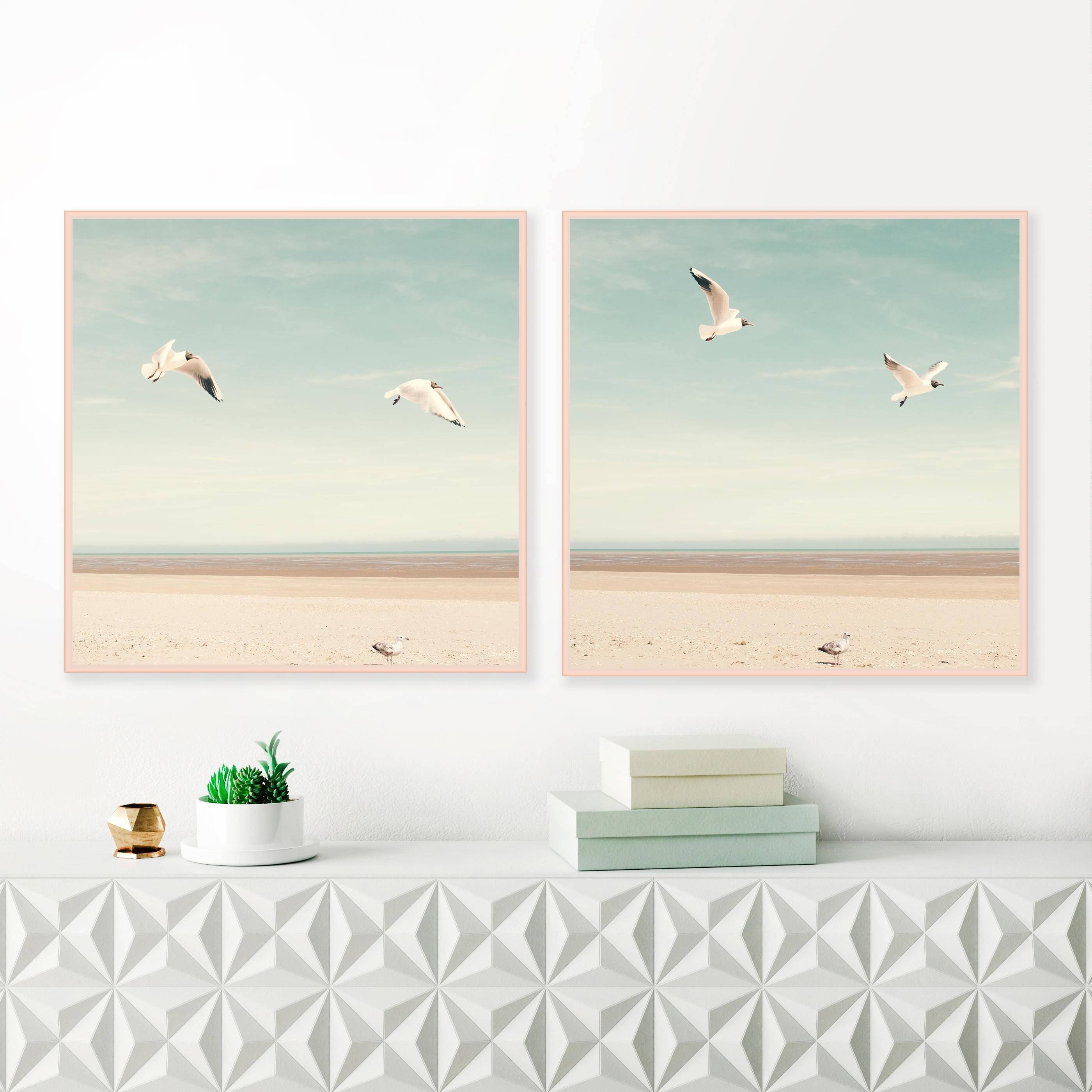Bird Prints, Beach Photography, Beach Wall Art, Sea Gulls Inside Most Current Large Coastal Wall Art (View 10 of 20)