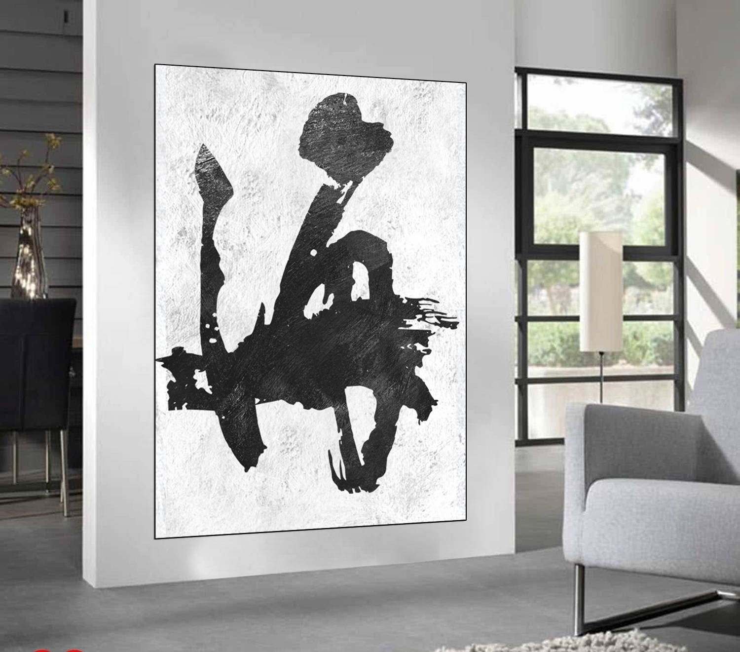 Black And White Abstract Wall Art | World Of Example Within 2017 West Elm Abstract Wall Art (View 4 of 20)