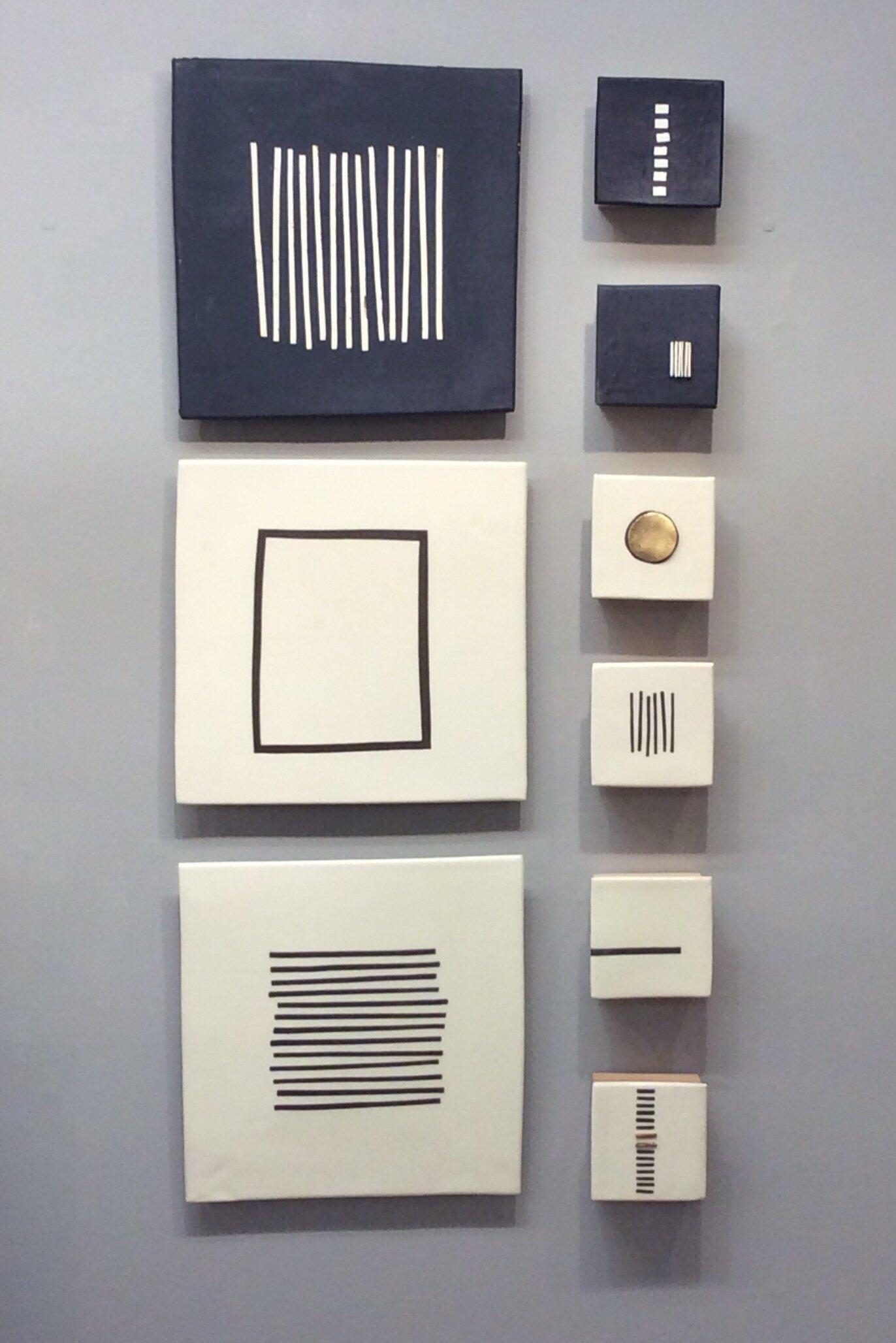 Black And Whitelori Katz. Slab Built Stoneware With *slips Throughout 2018 Abstract Ceramic Wall Art (Gallery 14 of 20)
