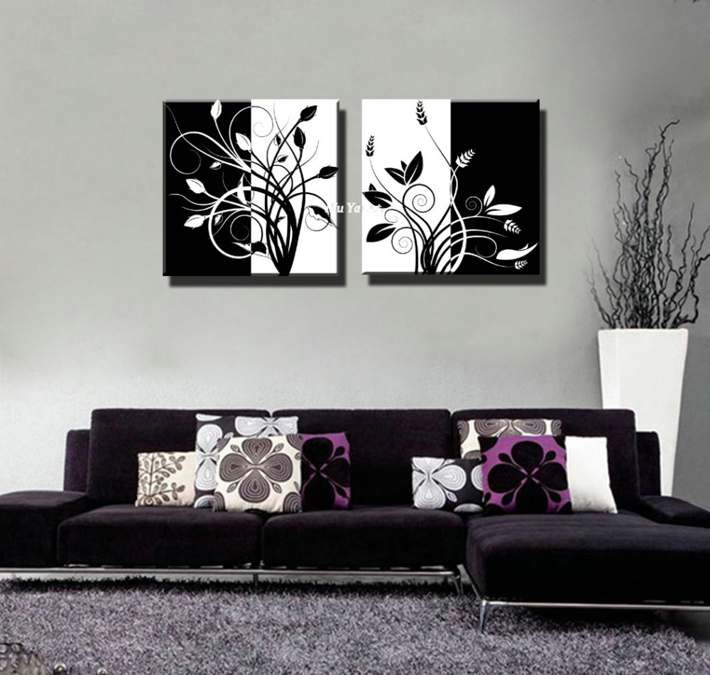 Black Wall Art Stickers Black Wall Art Canvas Black Metal Wall Art With Regard To Most Popular Black And White Abstract Wall Art (View 12 of 20)