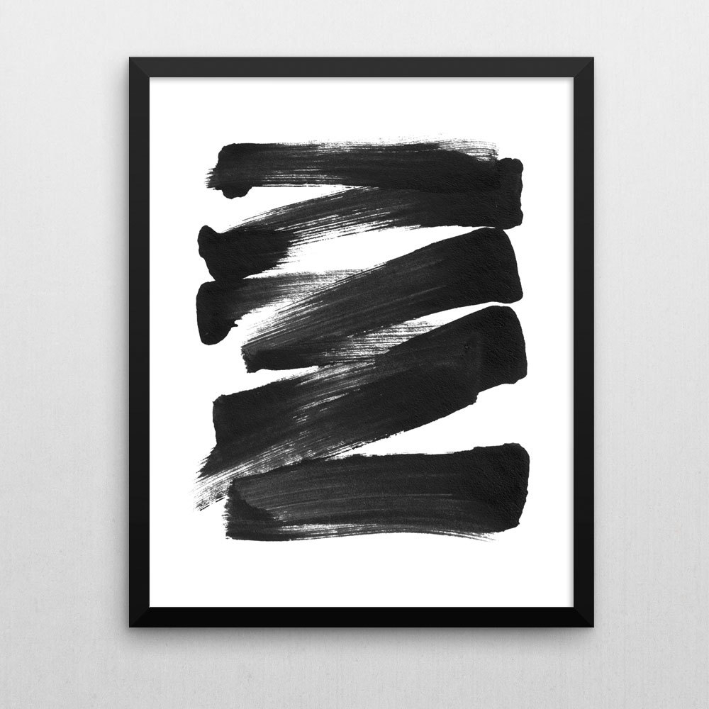 Featured Photo of Black and White Abstract Wall Art