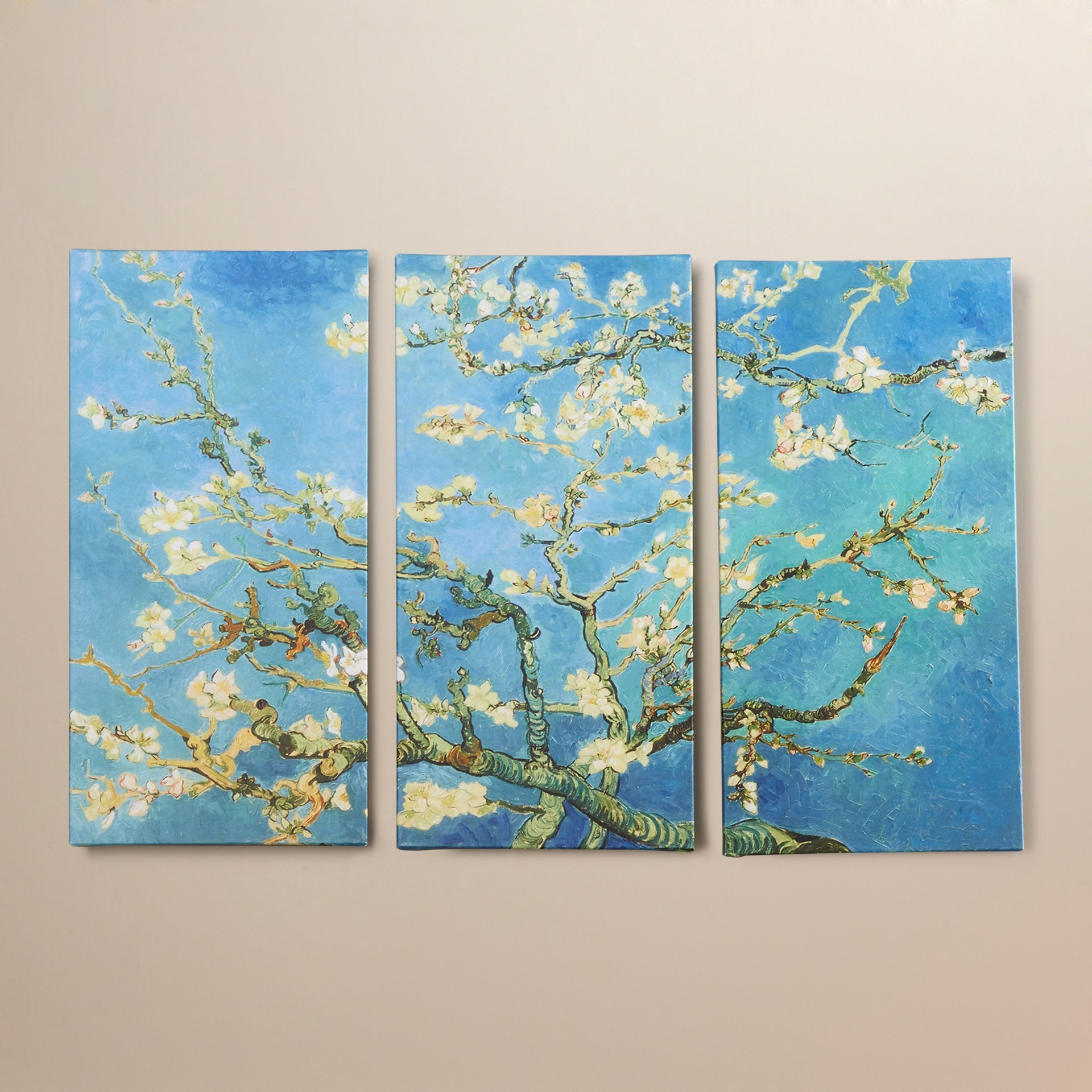 Bloomsbury Market 'almond Blossom'vincent Van Gogh 3 Piece Inside Current Vincent Van Gogh Multi Piece Wall Art (Gallery 8 of 20)