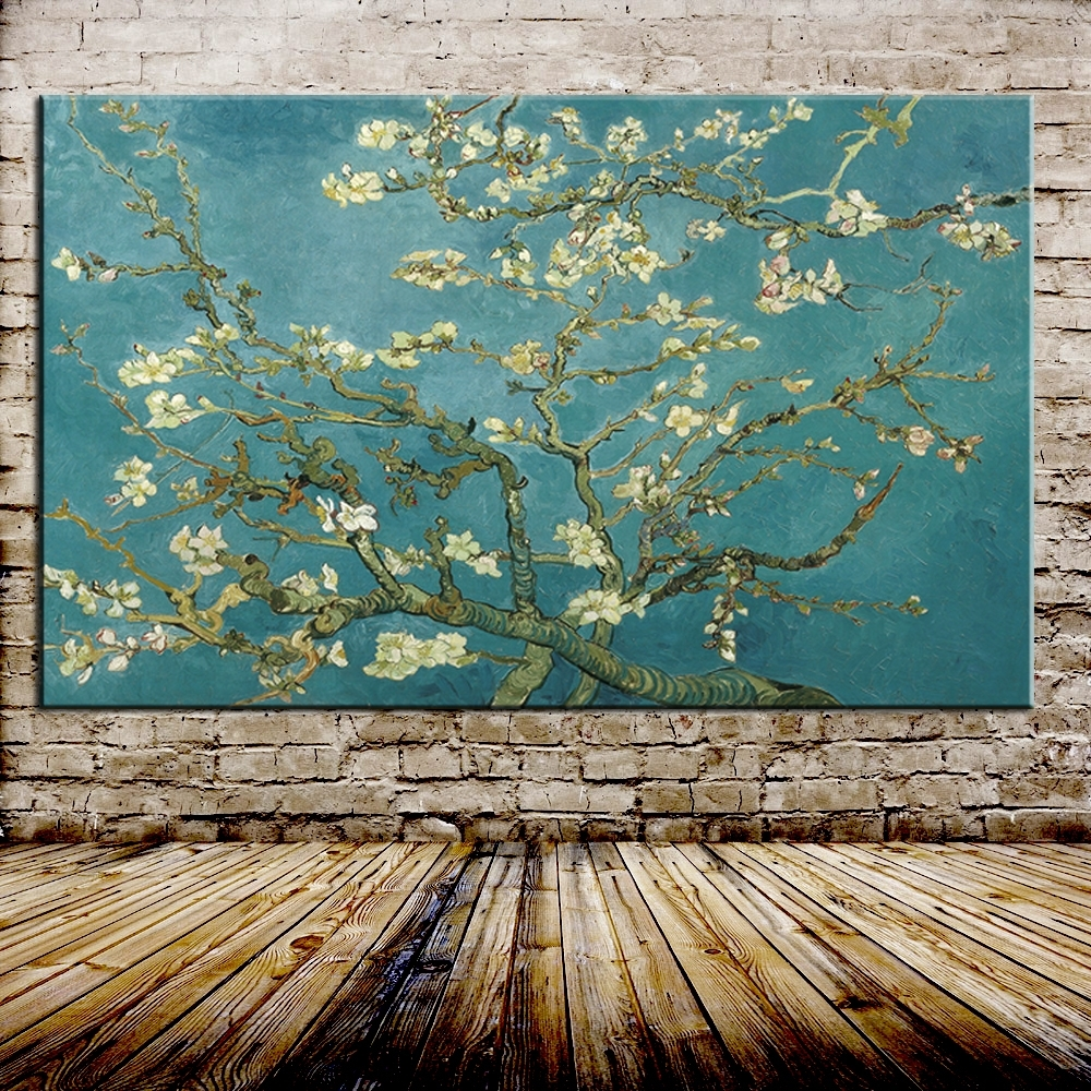 Blossoming Almond Tree Oil Painting Of Vincent Van Gogh Throughout Newest Vincent Van Gogh Wall Art (View 4 of 20)