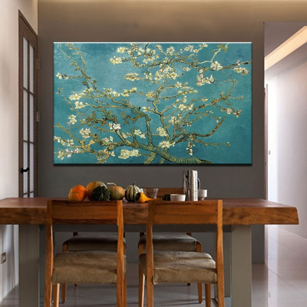 Blossoming Almond Tree Oil Painting Of Vincent Van Gogh With Latest Almond Blossoms Vincent Van Gogh Wall Art (View 15 of 20)